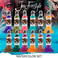 Краска для тату WF Jay Freestyle Watercolor Ink Set
